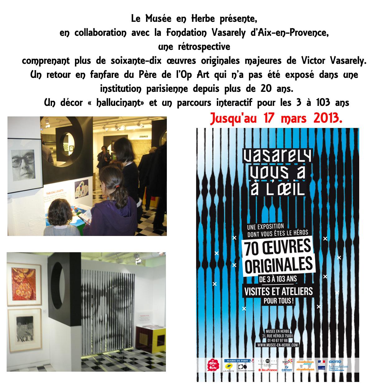Expo Vasarely musée en  herbe Paris