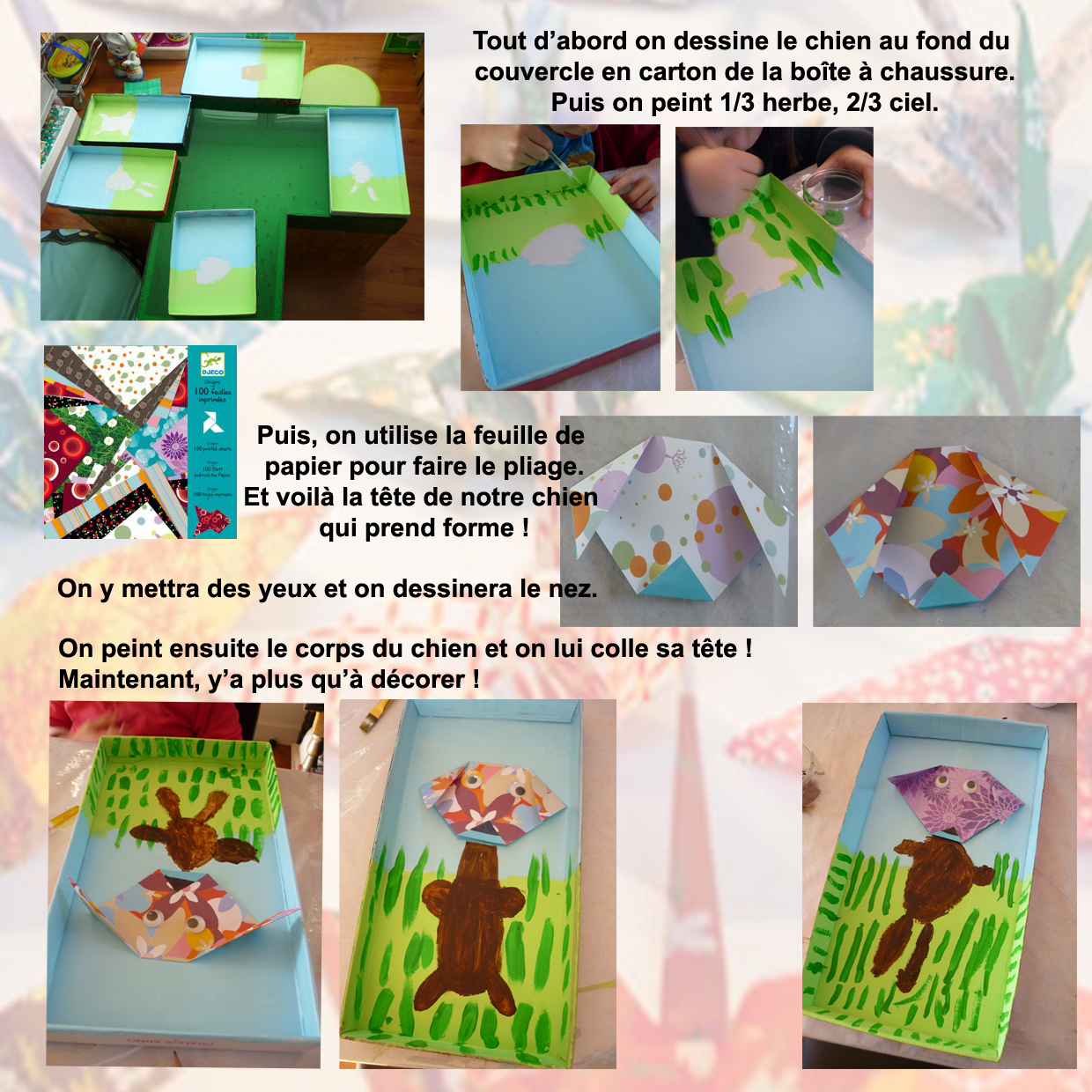 Peindre notre tableau Origami