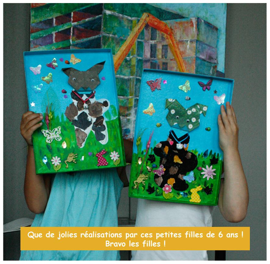 """Atelier créatifs Nantes galerie """"le 56"""" tableau origami"""