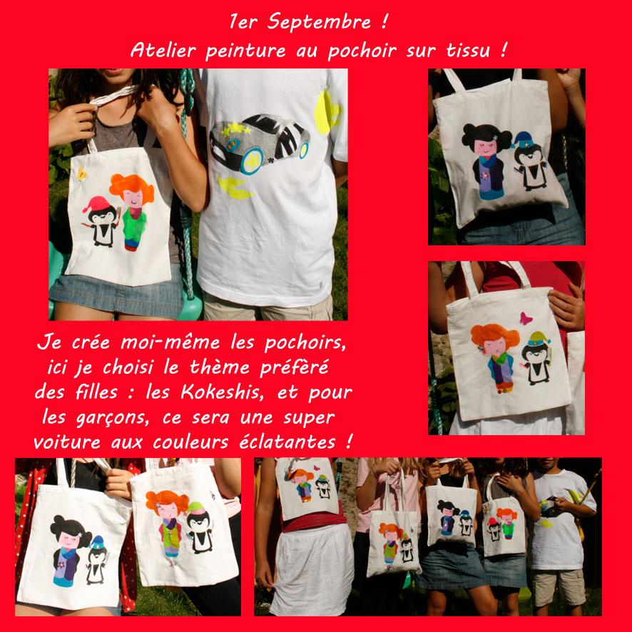 pochoirs-sac-Kokeshis-et-tshirt-bolide-atelier-des-petits-pots-de-colle-nantes-loisirs-creatifs